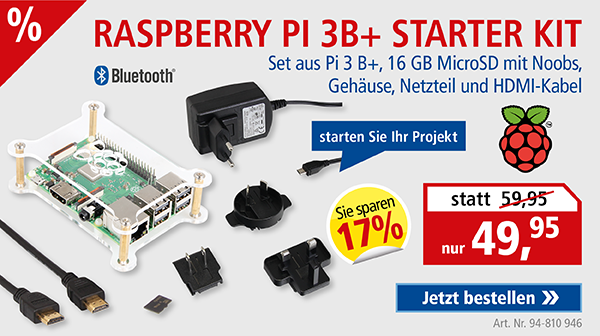 Raspberry Pi 3B+ Starter Kit nur 49,95
